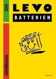 ZUBEHÖRKATALOG 2009 - LEVO Batterien AG