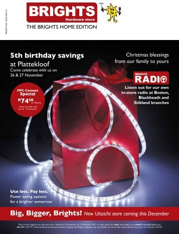 5th birthday savings at Plattekloof - BRIGHTS Hardware