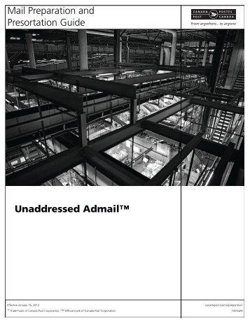 Unaddressed Admail - Canada Post