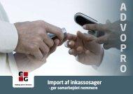 Læs mere i vores produktblad om Import af inkassosager