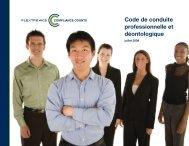Code de conduite professionnelle et déontologique - Flextronics