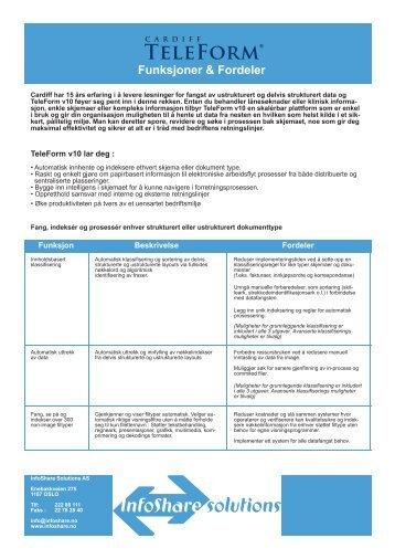 TeleForm Funksjoner og Fordeler - InfoShare Solutions