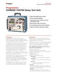 Programma SVERKER 750/760 Relay Test Sets - Surgetek