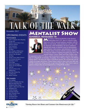 Mentalist Show - Village Walk of Bonita Springs