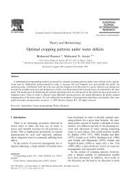 Optimal cropping patterns under water deficits