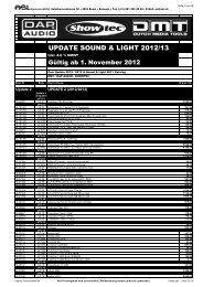 Katalog SOUND & LIGHT 2011