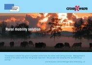 Rural mobility solution - Crossware