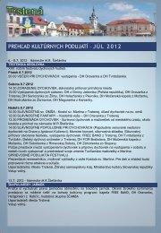 Júl 2012 - Mesto Trstená
