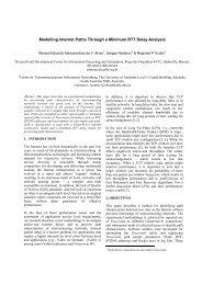 Modelling Internet Paths Through a Minimum RTT Delay Analysis