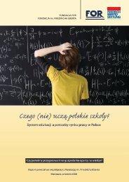 Czego (nie) uczą polskie szkoły? - Fundacja im. Friedricha Eberta