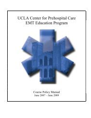 Termination from the Program - UCLA Center for Prehospital Care