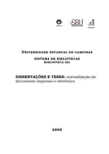 DISSERTAÇÕES E TESES: normalização do ... - IEL - Unicamp