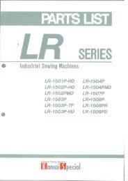 Parts book for Kansai LR Series