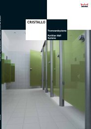 CRISTALLO trendline - DORMA Interior Glas