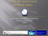 How We Survived Hurricanes Irene & Lee - The SUNY Technology ...