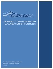 triathlon bc appendix to itu rules - Triathlon British Columbia