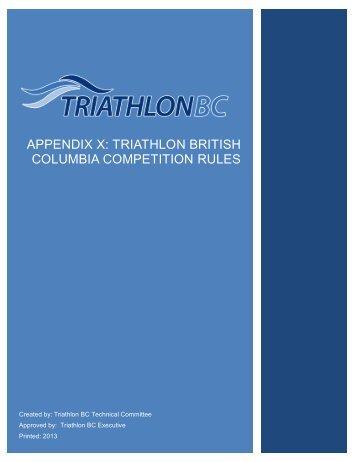 triathlon bc appendix to itu rules - Triathlon British Columbia