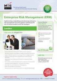 Enterprise Risk Management (ERM) - MIS Training