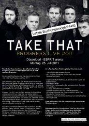Take That Letzte Möglichkeit - Esprit Arena