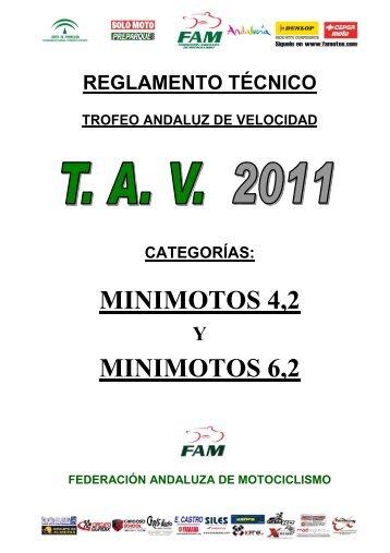 Reglamento Técnico 2011 MINIMOTOS 4,2 Y 6,2