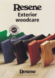 Resene Woodsman Exterior Woodcare colour chart