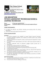 job description physics laboratory technician/sound ... - Eteach