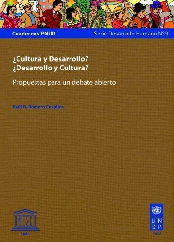 Desarrollo y cultura? - Centro de Documentación sobre Desarrollo ...