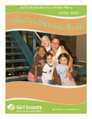 Volunteer Resource Guide - Girl Scouts Today