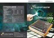 preliminary information - Studiomaster