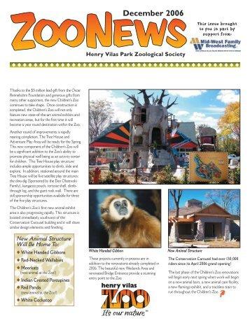 December 2006 - Henry Vilas Zoo