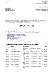 LEUCHTMITTEL Preisliste * Crazy Events Veranstaltungstechnik ...
