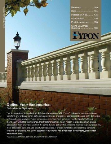 Balustrades magazines for Fypon balustrade systems