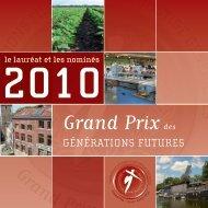 Grand Prix des Générations Futures 2010 - le Lauréat et les ... - FGF