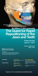 The Quest for Rapid Repositioning of the Jaws and Teeth - Bicon