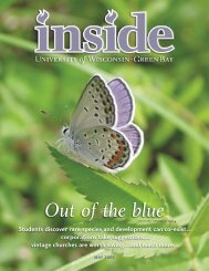 inside – may 2005 (pdf) - University of Wisconsin - Green Bay