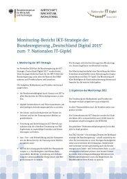 Deutschland Digital 2015 - IT-Gipfel
