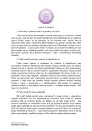 FAKULTA PRÁVA 1.Trest smrti v právnom štáte – argumenty za a ...