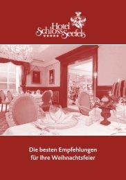Menüs für Ihre Weihnachtsfeier (PDF) - Hotel Schloss Seefels