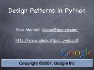 Design Patterns in Python - Alex Martelli