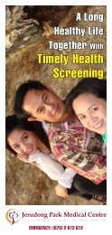 Timely Health Screening - Jerudong Park Medical Centre