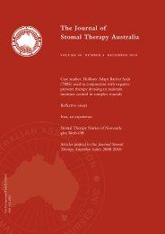 JSTA December 2010 - Australian Association of Stomal Therapy ...