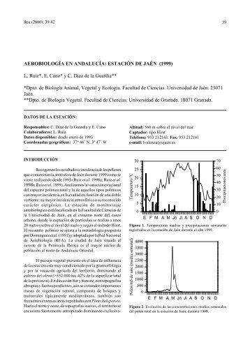 Aerobiología en Andalucía: estación de Jaén 1999 - LAP