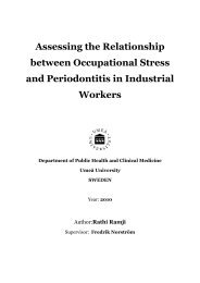 Assessing the Relationship between Occupational Stress and ...