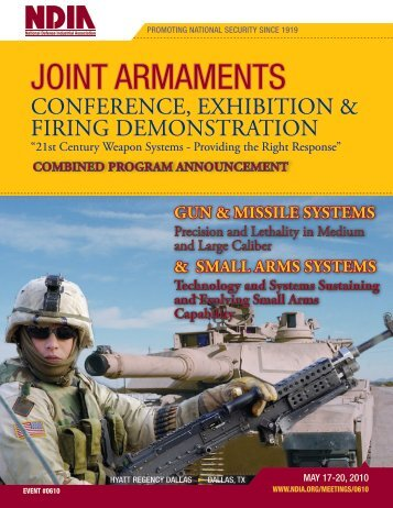 JOINT ARMAMENTS - National Defense Industrial Association