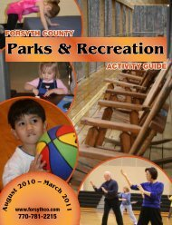 Parks & Recreation - Forsyth County Government