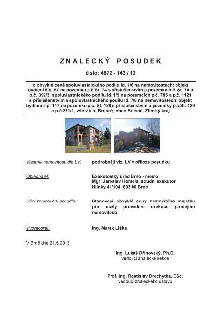 Z N A L E C K Ý P O S U D E K - OKdrazby.cz