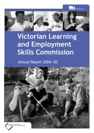 VLESC Annual Report 2004-05 - Department of Education and Early ...