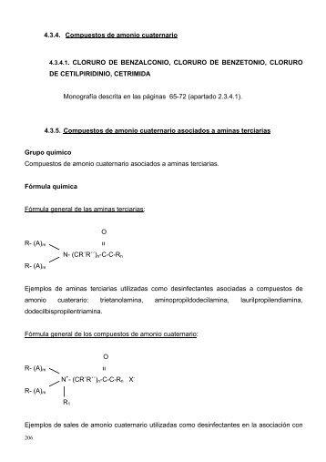 Compuestos de amonio cuaternario