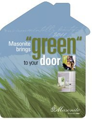 Masonite Green Doors Brochure - Huttig Building Products