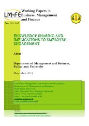 Working Papers in Business, Management and Finance